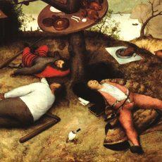 Foto: Bruegel, Gemälde, Das Schlaraffenland,1567